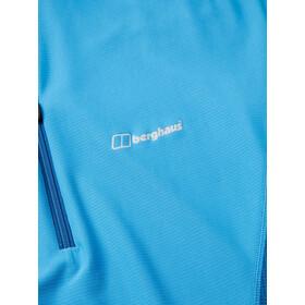 Berghaus Super Tech Sous-vêtement manches courtes avec demi-zip Femme, campanula/galaxy blue